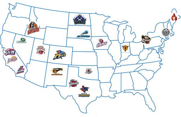 NBA Development League Map By WorldwidePhotography On DeviantArt - Nba teams map