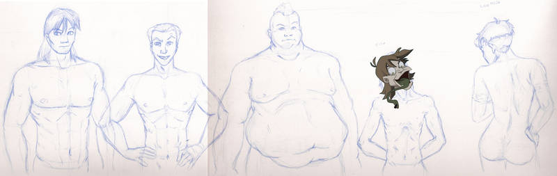 Body Types Sketch by BlazeRocket