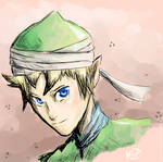 Link is wearing a turban
