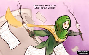 One page at a time! Muslim-Manga 5th Anniversary by SirImran