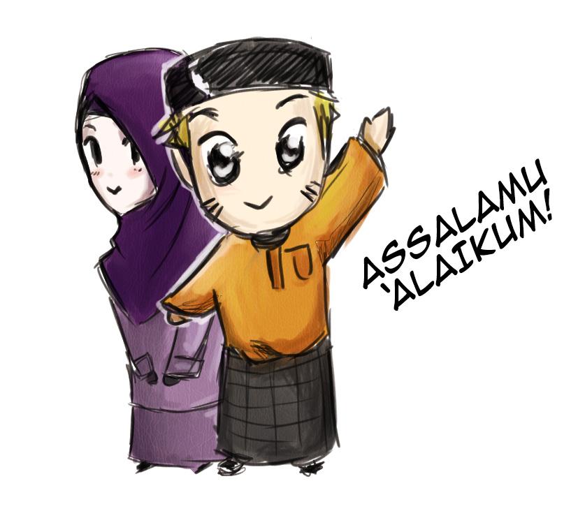 Wanita Gambar Anime Naruto Islam N Hinata Gives Their Salams By Sirimran On Deviantart