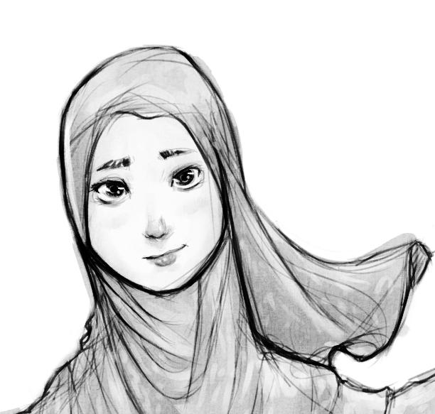 Hijabi portrait by SirImran
