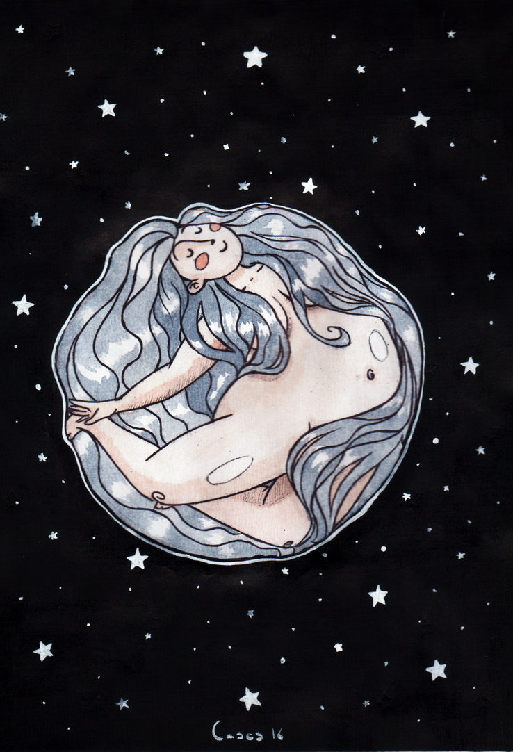 The Moon by Natalie-CaLoie