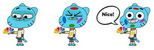 Gumball sees the Peacock logo (NBC Colors 1998)