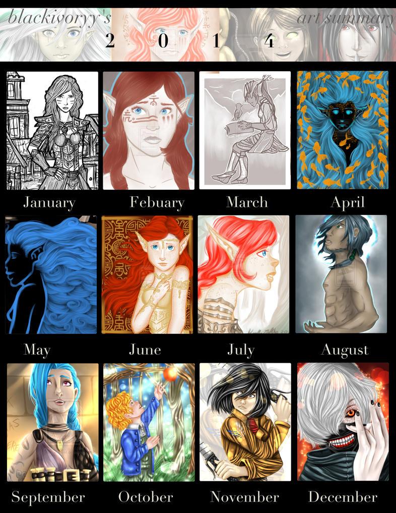 2014 art summary by BlackIvoryy