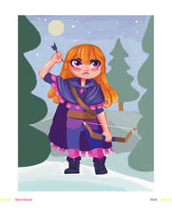Archer Girl [1/2] by BlackIvoryy