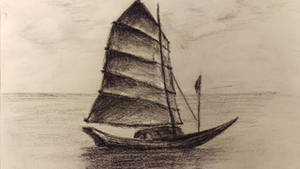 Ship Drawing by akarudsan