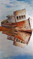 Ship Drawing Watercolor