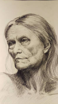 Portrait study: Old age thoughts