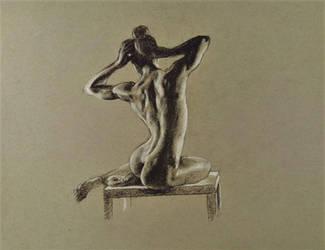 Figure drawing toned paper by akarudsan