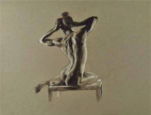 Figure drawing toned paper