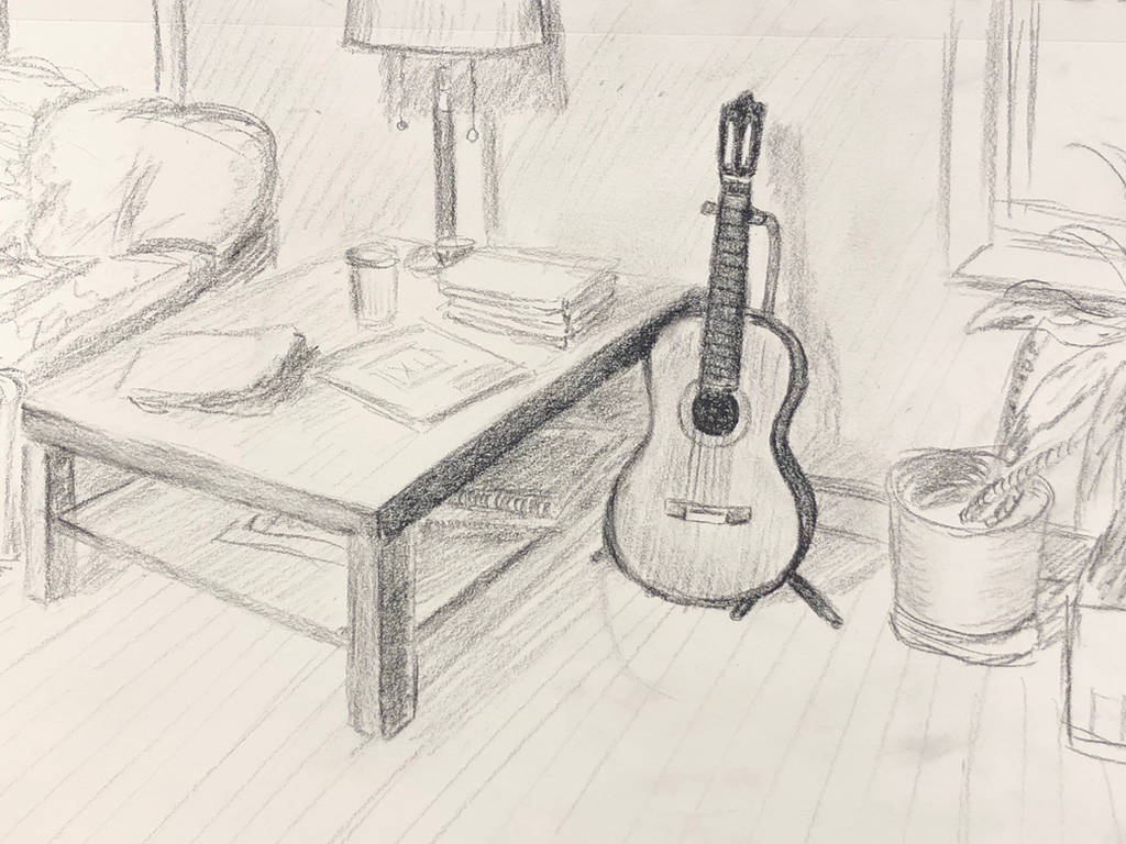 My Study Room sketch by akarudsan
