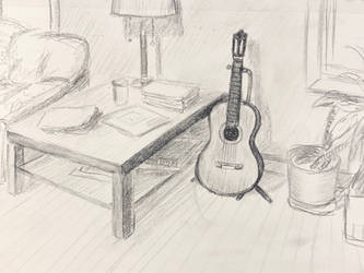 My Study Room sketch by akarudsan