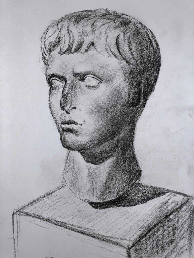 Classical Roman Head Study by akarudsan