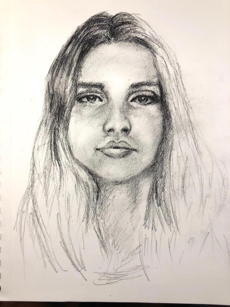 Stranger portrait sketch by akarudsan