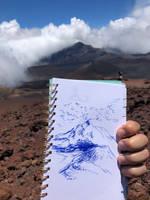Quick sketch on Haleakal Maui by akarudsan