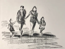 Family stroll by akarudsan