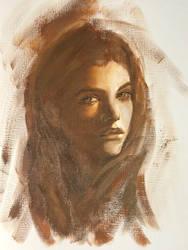 Barabara Palvin painting by akarudsan