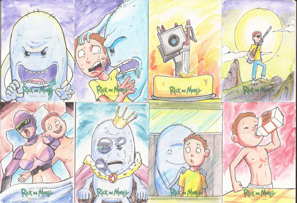 Rick and Morty Sketchs Cards by EmanuelBraga