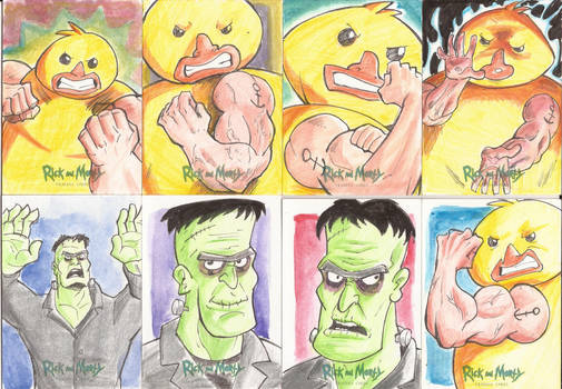 5 -Sketch Cards Rick and Morty Season Two 2