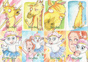 6 -Sketch Cards Rick and Morty Season Two 2