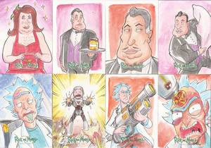 8 -Sketch Cards Rick and Morty Season Two 2