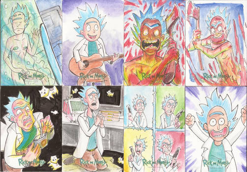 9 -Sketch Cards Rick and Morty Season Two 2