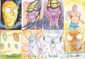 10 -Sketch Cards Rick and Morty Season Two 2