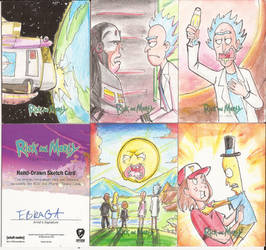 13 - Sketch Cards Rick and Morty Season Two 2