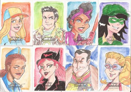 DC Sketch Cards Bombshells II 16