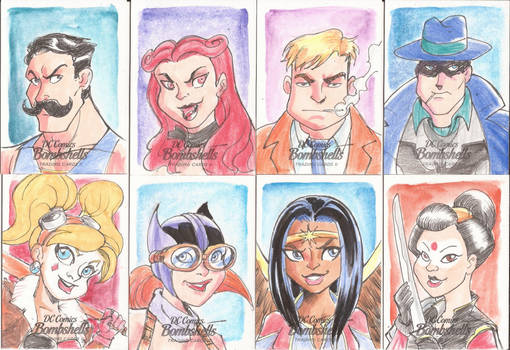 DC Sketch Cards Bombshells II 17