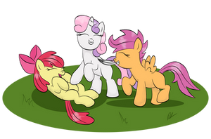 cutie mark crusader tickle monsters yay! by shadawg