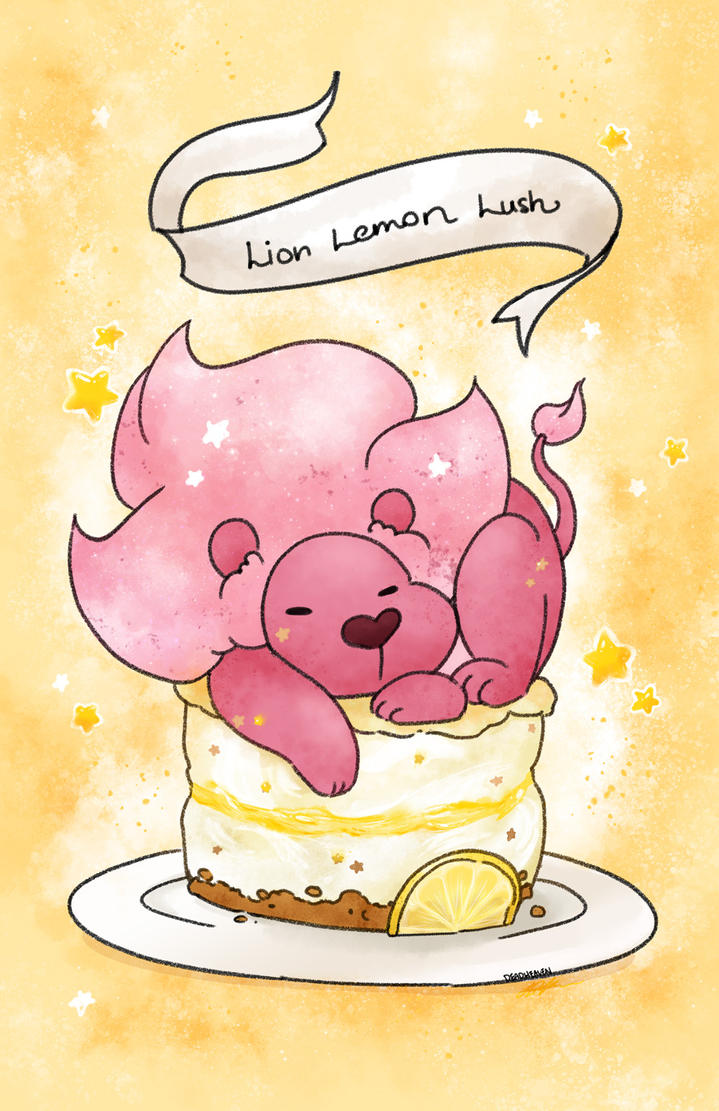 finally started getting around to making more dessert steven universe pieces. here's lion on a lemon lush. steven universe is such a good show, i recommend it to anyone and everyone.