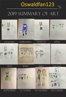 Oswaldfan123's 2019 Summary of Art by Oswaldfan123