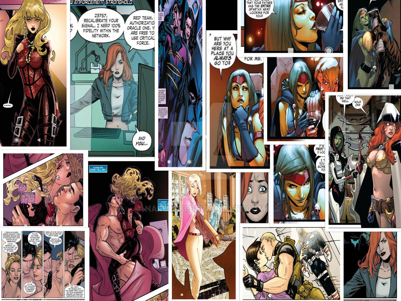 Marvel hot girls Hot Girls From Dc And Marvel Comics By Naru1993 On Deviantart