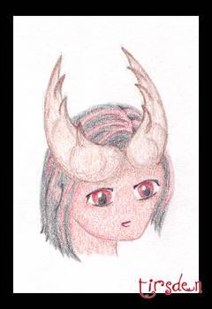 anime Tiefling Shane colored