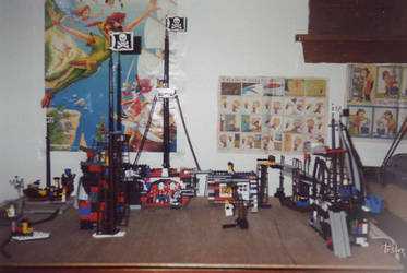 LEGO pirate town by tirsden