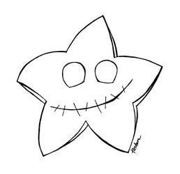 color teh creepy star