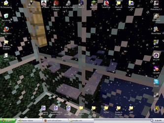 Minecraft snow desktop