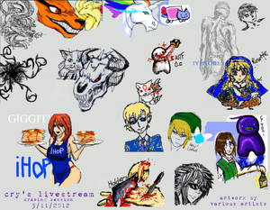 Cry's Livestream Drawing Session 3.11.2012