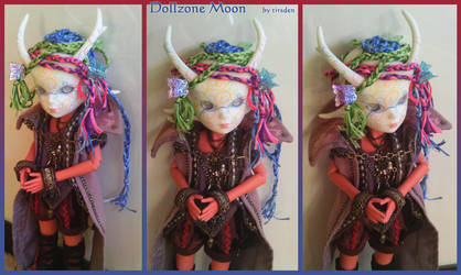 Dollzone Moon - faceup and wig