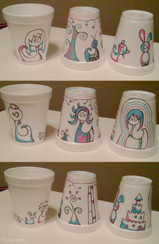 PT Rehab Styrofoam Cup Art 3