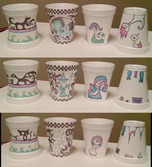 PT Rehab Styrofoam Cup Art 4