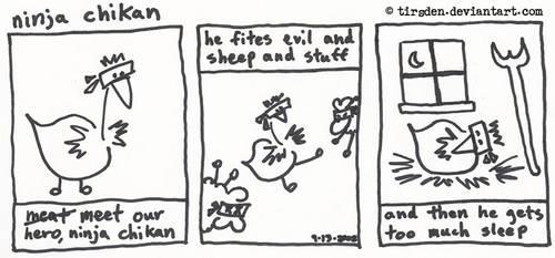 Ninja Chikan first strip