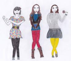 Hannah, Bella and Jenny