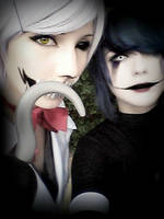 Mangle and Puppet cosplay by HazyCosplayer