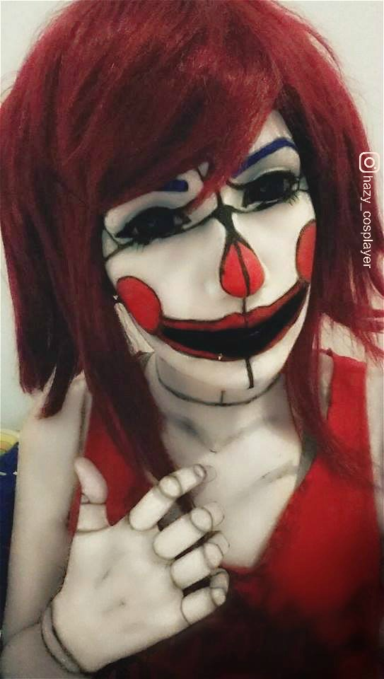 Circus Baby cosplay - Sister location [TEST 2] by ... Raccoon Face Coloring Page