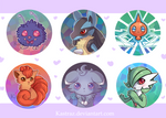 Pokemon Buttons by Vultureen
