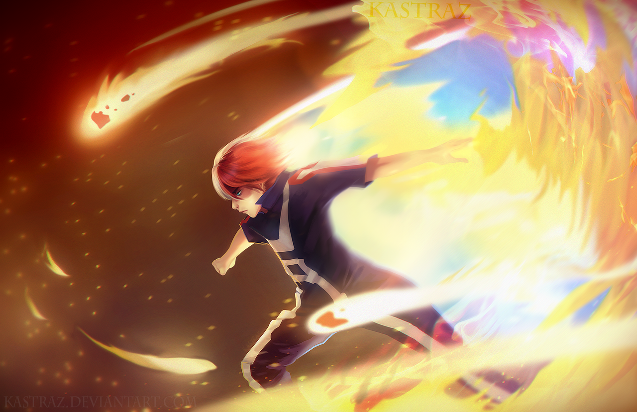 Anime Characters Using Fire : Todoroki rapid expansion by kastraz on deviantart