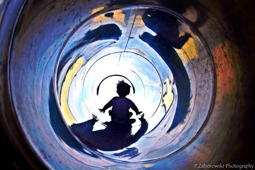 my son on slide